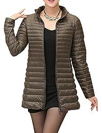 Kasen Giacca da Donna Lunga Piumino di Inverno Ultra Leggero Cappotto Parka  Giacche 00c58e4e323