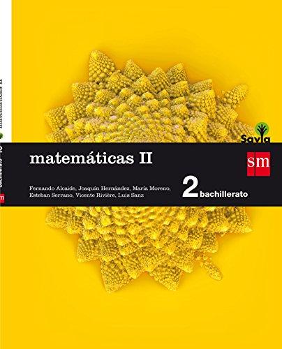 Matemáticas II 2 Bachillerato Savia