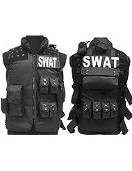 Táctica SWAT Policía combate chaleco molle revista Airsoft Paintball militar BK