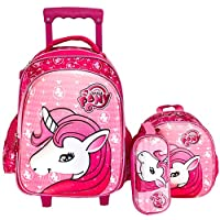 UNICORN SCHOOL TROLLEY BAG WITH BACKPACK FOR KIDS (15)