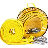 Bibetter 4Maters 5Ton High Strength Tow Strap, with Two Safety Hooks, Winch Rope for Recovery Tow (13' Long 11000 Lb)