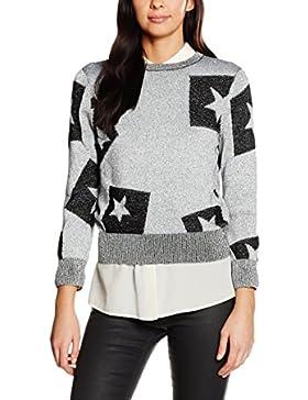 Cheap Monday Damen Pullover Tips Knit Cut Star