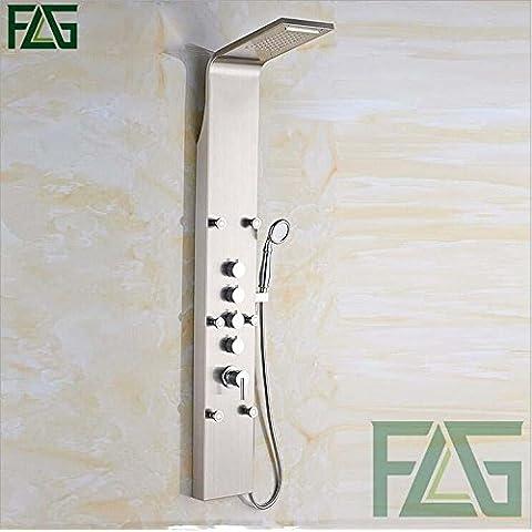 304 cepillado acero inoxidable baño ducha panel cuatro botones moderno estilo europeo ducha Kit