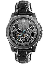 c1b50e83a6fc Lord Time Pieces Orion Gunmetal Leather