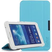 iHarbort® Samsung Galaxy Tab 3 7.0 Lite Funda - ultra delgado ligero Funda de piel de cuerpo entero para Samsung Galaxy Tab 3 7.0 Lite (SM-T110 SM-T111 SM-T113 SM-T116) (Galaxy Tab 3 7.0 Lite, azul claro)