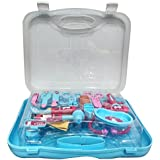 Peppa Pig Doctor set packed in Plastic foldable suitcase for Children of age 3 to 8 years | Premium Quality | Certified Safe as per European Safety Standards (EN71) | Fun and Educational toys for Kids | Multi Color | Includes 1 Stethoscope, 1 EyeGlasses, 2 Doctor Batches, 1 Mobile, 1 Mirror, 2 Surgical Scissors, 1 Bandage, 1 Surgical Trey, 1 Syringe, 1 Thermometer, 1 Reflex Testing Hammer, 1 Otoscope, 1 Tweezer, 1 Scalpel, 1 BP Instrument