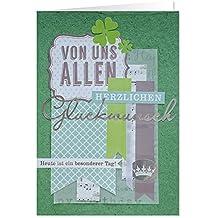 Gruss 90227Handmade tarjeta de felicitación, de todos nosotros Herzlichen felicitación, Hoy es un día, XL, multicolor