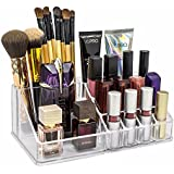 Shag Multi Grid Acrylic Makeup Organiser Transparent Plastic Cosmetic Storage Box(Clear,16 slot lipstic box3)