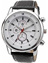 Exotica White Dial Analogue Watch for Men (EFG-15-W-LB)