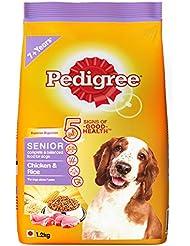 Pedigree Senior Dog Food, Chicken and Rice, 1. 2 kg k