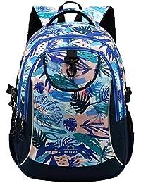 SellerFun Girl Flower Printed Primary Junior High University School Bag Bookbag Backpack