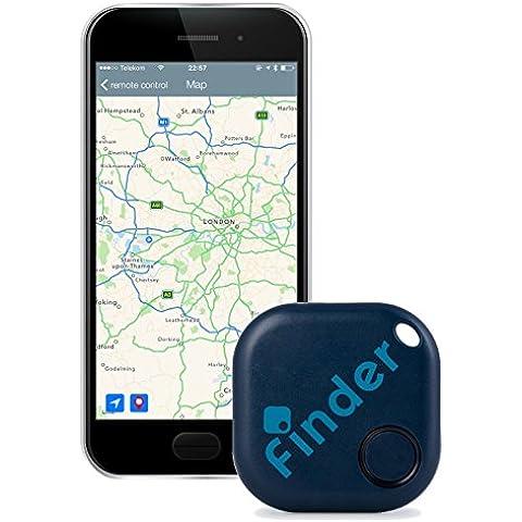 musegear finder Localizador de llaves | Encuentre sus objetos perdidos mediante la aplicación gratuita (iPhone y Android) | El gadget definitivo a modo de llavero o accesorio para el coche | azul