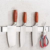 Miyare cuchillos de imán (304Acero inoxidable con 3m viscosa almacenamiento de cocina para ahorro de espacio, acero inoxidable, medium
