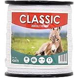 Ruban de clôture électrique CLASSIC 200 m 10 mm conducteur 4 x 0,16 mm acier inoxydable fil câble clôture cheval chèvre mouton poney