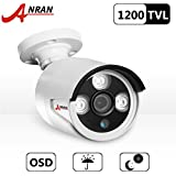 ANRAN 1200TVL 960H seguridad vigilancia CCTV cámara con cámaras bala resistente a la intemperie al aire libre de la visión de corte IR 3,6 mm lente de alta resolución 90 pies nocturna