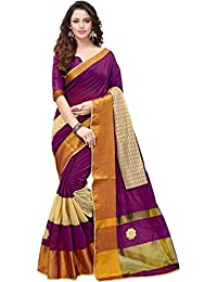 V.Clothy Women's Cotton Silk Saree With Blouse Piece (1B_W_ Saree For Women's Party Wear_Wine)