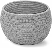 """ABenkle Small Cotton Rope Basket for Organizing & Storage,10"""" W x 6.5"""" H Small Dog Toy Basket &a"""