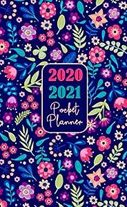 2020 2021 Pocket Planner: 2 Year Pocket Planner Agenda Organizer Internet Password Log Phone Book and Notebook 24 Months  Wit