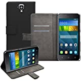 Membrane Huawei Y5 (Y560) Custodia Portafoglio Nero PU Pelle Libro Flip Wallet Protettivo Case Cover