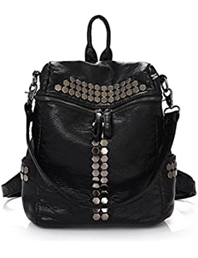 Honeymall zaino borsa Donna?Rivet Pelle Lavato