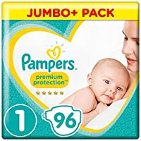 Pampers New Baby 96 Nappies, 2-5 kg, Size 1 - ukpricecomparsion.eu