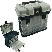 Estuche de 4 ajustable con compartimento de almacenaje, caja para aparejos de pesca, caja Lunar