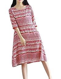 Free-Fisher Niñas Vestidos Rosados Largos Mangas Cortas Vestido Elegante