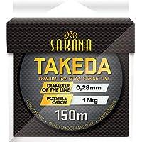 Sedal para caña de pescar de Sakana Takeda; 0,14-0,40 mm, bobina monohilo 150 m, 0,20mm