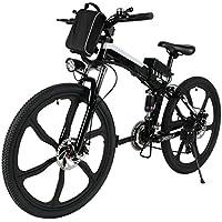 begorey Bicicleta de Montaña Electrica 26 Pulgadas 27 Velocidad Plegable Eléctrica Energía con Batería ...