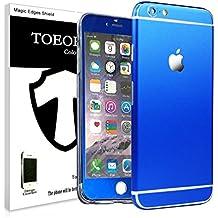 Protector completo y película adhesiva Toeoe de alta resistencia y superfina + protector de pantalla frontal ultra claro para iPhone 6/6S, azul, for iPhone 6 Plus/6S Plus