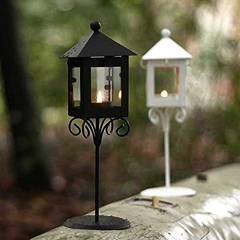 CHZLL Candelabri in ferro battuto classici europei, giardino Lampade da terra, candele profumate , (Ferro Battuto Tradizionale Lampada Da Terra)