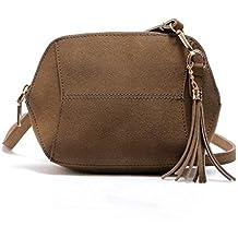 5534e136e Bolsos bandolera, Sannysis Bolsa de cuero bolso mujer pequeño, 21x4x17 cm  (B x