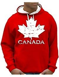 Canada Vintage NEU AHORN Kapuzensweater KANADA hellgrau, schwarz, rot S M L XL XXL 3XL