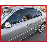 Ford Mondeo MK3Saloon cromo Windows Marco 4pcs Inox 2000–2007