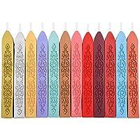 12 Piezas Palos Sello de Cera Sellado de Cera Wick Con Sello de Cera de la Vendimia Retro Sello,12 Colores