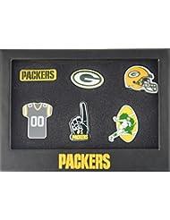 Green Bay Packers 6Pinset dans boîte cadeau–NFL Football Supporter Boutique