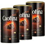 Caotina noir, Poudre de Cacao avec du Chocolat Noir Suisse, Chocolat Chaud, Lot de 3, 3 x 500g