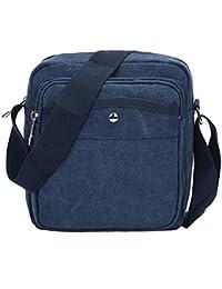 Rrimin Men Outdoor Sport Mini Canvas Shoulder Cross Body Bag Handbag Messenger Bag