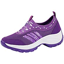 Mujer Plataforma Aptitud para Caminar Ante Cuero Entrenadores Zapatos Casual Zapatillas Height-Increasing Sneaker Beladla