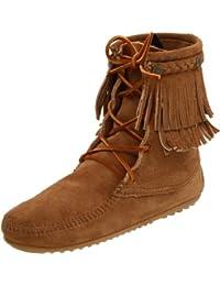 Minnetonka Double Fringe Tramper Damen Kurzschaft Mokassin Boots