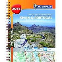Spain & Portugal 2014  - A4 spiral atlas (Michelin Atlas)
