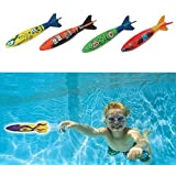 Edealing Set Of 4pcs Toypedo Bandits Piscine Plongée Summer Game with Edealing keychain