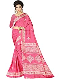 E-VASTRAM Womens Crepe Printed Art Silk Saree(V3120_Pink)