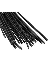 HITSAN INCORPORATION 40PCS Black PP Plastic Welding Rods For Plastic Weldeing Gun/Hot Air Gun/Welding Tool