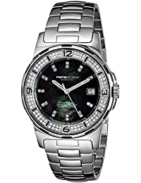 MOMO Design MD093-D01BK-MB - Reloj de pulsera Mujer, acero inoxidable,