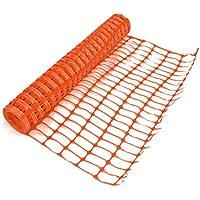 True Products B1003C 4 kg, 1 m x 50 m, Standard, in plastica, con rete di recinzione a rete di protezione, colore: arancione (1 pezzo)