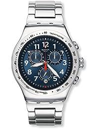 Swatch Reloj Cronógrafo de Cuarzo Unisex con Correa de Acero Inoxidable – YOS455G