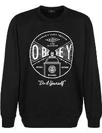 Obey Under Pressure Premium Crew Fleece hommes, molletonné, noir