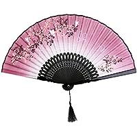 Biancheria Farfalla Fiori Mano Lacca Fan Gestire Giapponese Di Piegatura Ventilatore Rosa