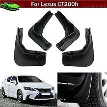 4pcs delantera + trasera coche Mud Flaps Splash Guards Protector guardabarros guardabarros guardabarros guardabarros ajuste personalizado para Lexus CT200H 201220132014201520162017